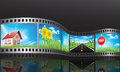 Film reel with nature concepts Stock Photos