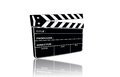 Film slate use in production on the background Stock Photos