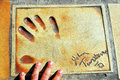 Film Star Hand Print Cannes Royalty Free Stock Photos