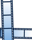 Film strip background or frame on white Royalty Free Stock Images