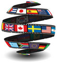 Film strip containing flags Royalty Free Stock Photos