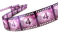 Film strip countdown clipping path and isolated on white Royalty Free Stock Image