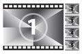 Film Strip Countdown Royalty Free Stock Photo