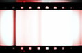 Film strip frame background blank isolated on white Royalty Free Stock Photos