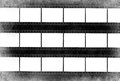 Film strip grunge background in black and white Royalty Free Stock Photos