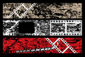 Film strip grunge letters Royalty Free Stock Photos