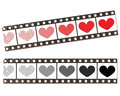 Film strip hearts movie entertainment concept digitally generated vector illustration Royalty Free Stock Images