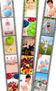 Film Strip Montage Men & Women Healthy Diet Exercise Royalty Free Stock Images