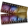 Film strip with snow and trees Stock Image