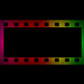 Film strip spectrum glowing isolated on black background Stock Image