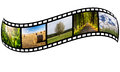 Film strip with summer photos Stock Photography