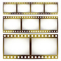 Film Strip Vector Set. Cinema Of Photo Frame Strip Blank Scratched Isolated On White Background. Royalty Free Stock Photo