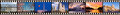 Film strip of washington dc sights mm format showing multiple and monuments white house congress cherry blossoms cathedral Stock Image