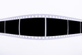 Film strip on the white background for your pictures Royalty Free Stock Image