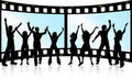 Film strip youth Royalty Free Stock Image