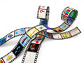 Film Strips with Images Royalty Free Stock Image