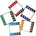 Film strips logo Royalty Free Stock Photo