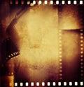 Film strips negative frames border Stock Image
