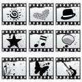Film with symbols Stock Images
