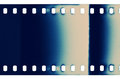 Film texture blank grained strip Stock Photography