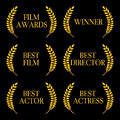 Film winners illustration of Stock Image