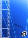 Filme la tira y el rodillo Imágenes de archivo libres de regalías
