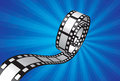 Filmstrip design in blue background Royalty Free Stock Photography