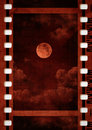 Filmstrip moon photography old illustration Stock Images