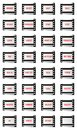 Filmstrip web buttons and internet on with a blank frame Royalty Free Stock Image