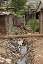 Filth and sewage kibera kenya garbage shacks in Royalty Free Stock Photos