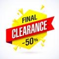 Final Clearance banner