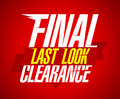 Final clearance design, last look. Royalty Free Stock Photo