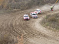 Final of the cup of russia in autocross omsk october discipline supercar fight for finals Royalty Free Stock Photography