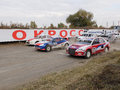 Final cup of russia in autocross omsk october discipline supercar start the arrival Royalty Free Stock Photo
