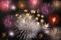 Final de los fuegos artificiales Foto de archivo