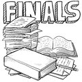 Final exams sketch Royalty Free Stock Images