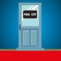 Final exit door Royalty Free Stock Photos