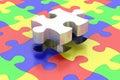 Final jigsaw piece Royalty Free Stock Photo