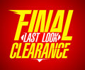 Final last look clearance design. Royalty Free Stock Photo