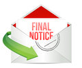 Final notice envelope mail correspondence Royalty Free Stock Image