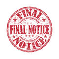 Final notice rubber stamp Stock Image