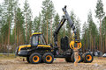 Finalist in forest machine operator competition jamsa finland september unidentified professional takes part the national where Royalty Free Stock Image