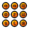 Finance 2 icons, orange series Stock Image