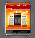 Finance Accounting Web Site Template vector Royalty Free Stock Image