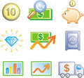 Finance and banking Icon Set (Vector) Royalty Free Stock Image