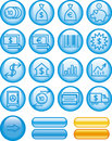 Finance, Banking Icon Set (Vector) Stock Photography