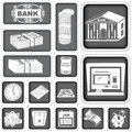 Finance banking squared icons a collection of different Royalty Free Stock Photo