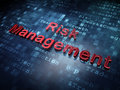 Finance concept red risk management on digital background d render Royalty Free Stock Photo