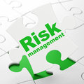 Finance concept: Risk Management on puzzle Royalty Free Stock Photo