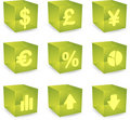 Finance cube icons Stock Photo